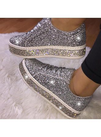VERYVOGA Femmes PU Talon plat Chaussures plates avec Dentelle chaussures