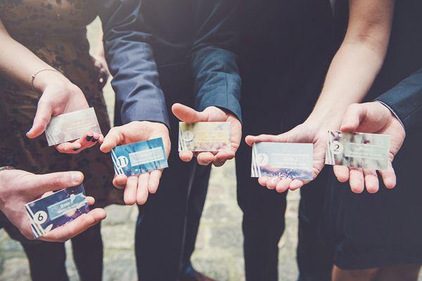 Une idée d'animation CANON pour un mariage !!! LA bonne idée pour organiser les photos de groupes grâce à de petits cartons *DIY*