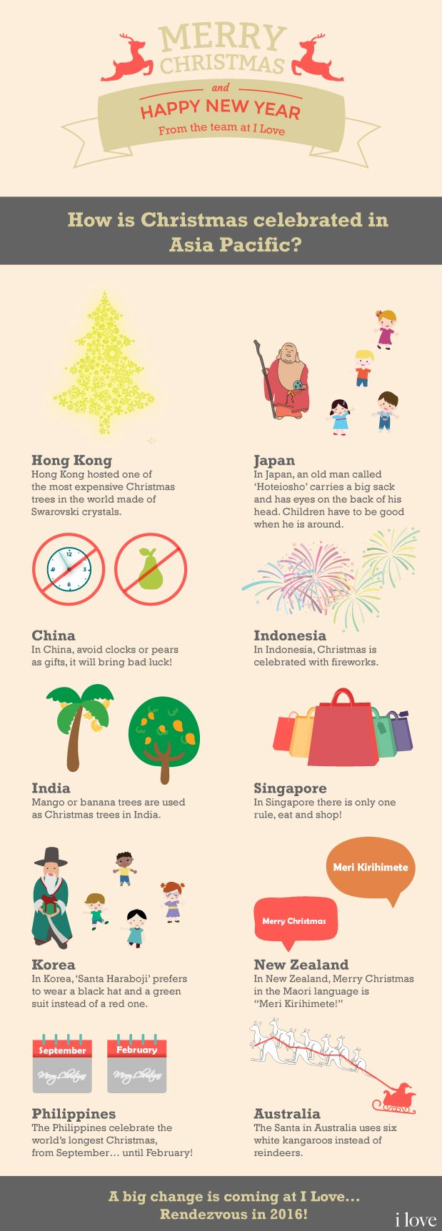 How is Christmas celebrated in Asia Pacific? #Infographic
