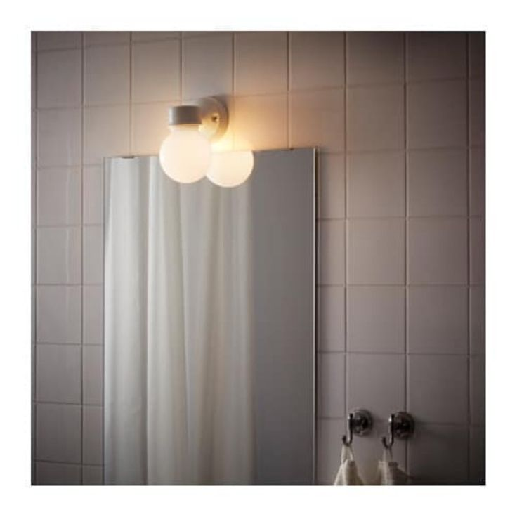 Pin by Ron J on lower level bathroom   Wall lamp, Ikea ...