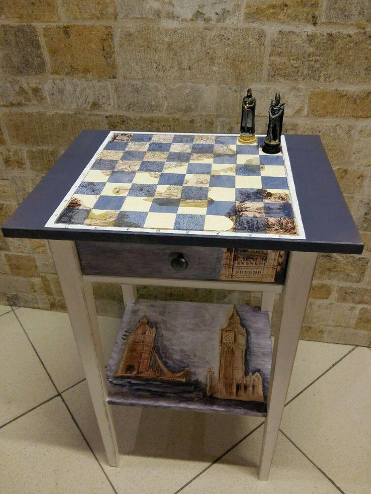 Купить Шахматный столик - стол, интерьер, шахматы, старение, столик из дерева, заготовка из дерева
