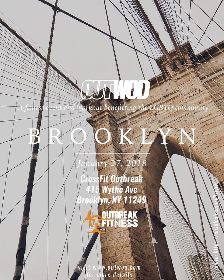 Hello Brooklyn how ya doin?  . .  OUT// Brooklyn will be hosted by CrossFit Outbreak!  . CrossFit Outbreak 415 Wythe Ave Brooklyn NY 11249 Jan. 27th 2018 Sign up with LINK in BIO.  Remember all OUTWOD events are inclusive and open to athletes from all backgrounds ages shapes sizes and skill level. There is NO EXPERIENCE REQUIRED at any of our fitness events just a desire to live a healthy life and sweat alongside your peers.