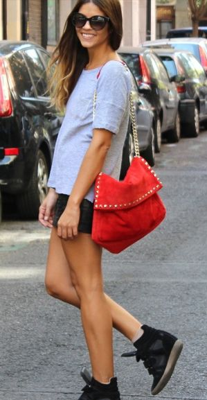 wedge sneakers are growing on me...  After wearing the wedge sneakers I came to love them last year.