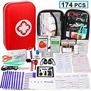 174 Pcs First Aid Kit