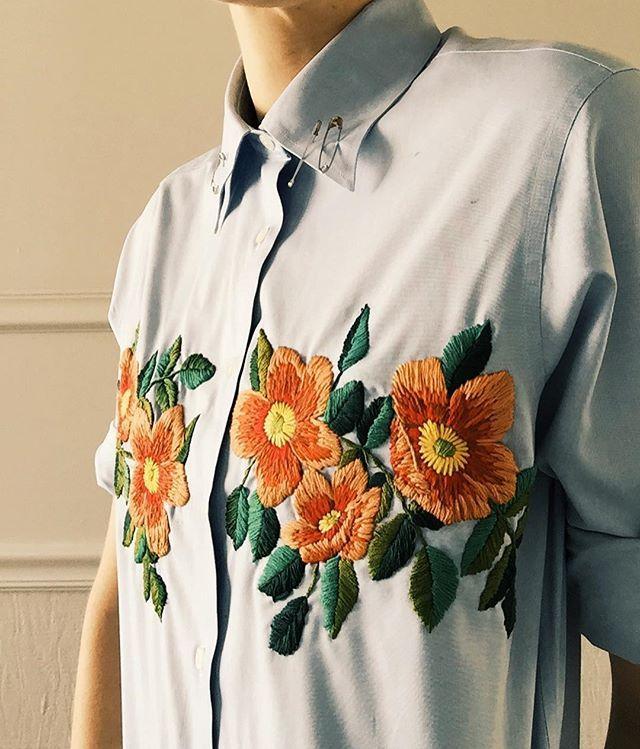 WEBSTA @ tessa_perlow - New shirt on Etsy #embroidery