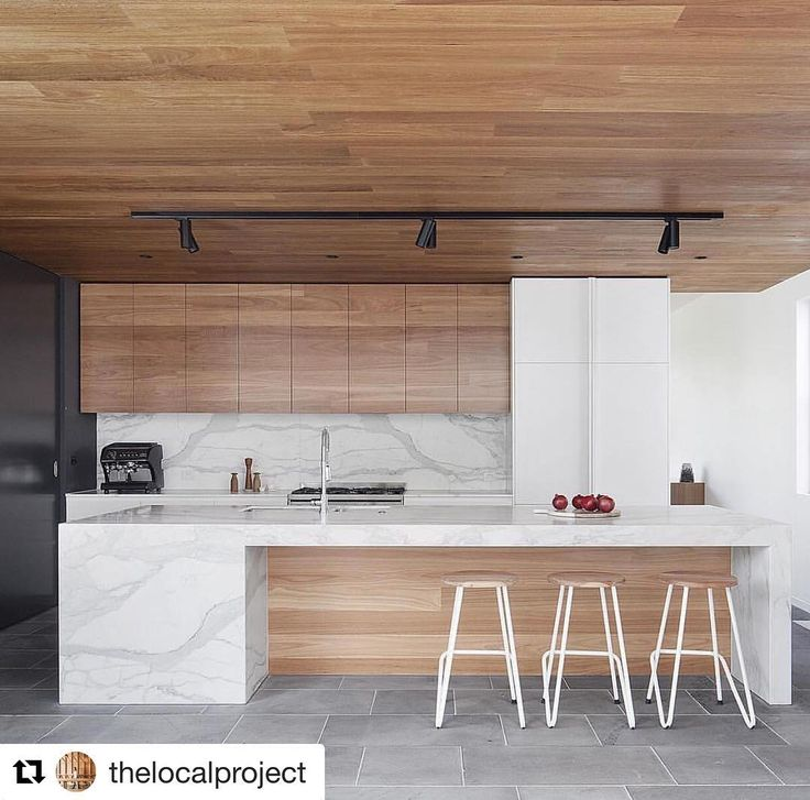 Incredible inspo via #Repost @thelocalproject with @repostapp  ・・・  Stepping Stone House Project by Bower Architects ✨ Featuring Australian Bluestone, Blackbutt timber & Calacatta Marble 📷 by Shannon McGrath