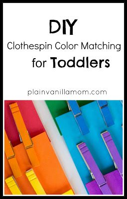 diy clothespin color matching for toddlers - Toddler Color Games