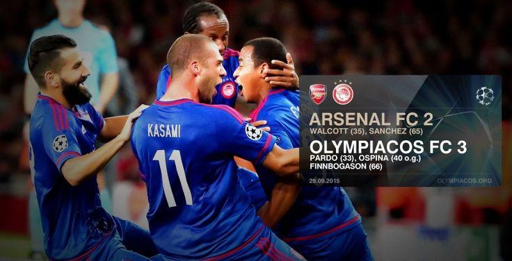Διπλό μέσα στο Λονδίνο! | Ο #Θρύλος επικράτησε με 3-2 στο Emirates της #Άρσεναλ για την 2η αγωνιστική του UEFA Champions League! #Olympiakos #Arsenal