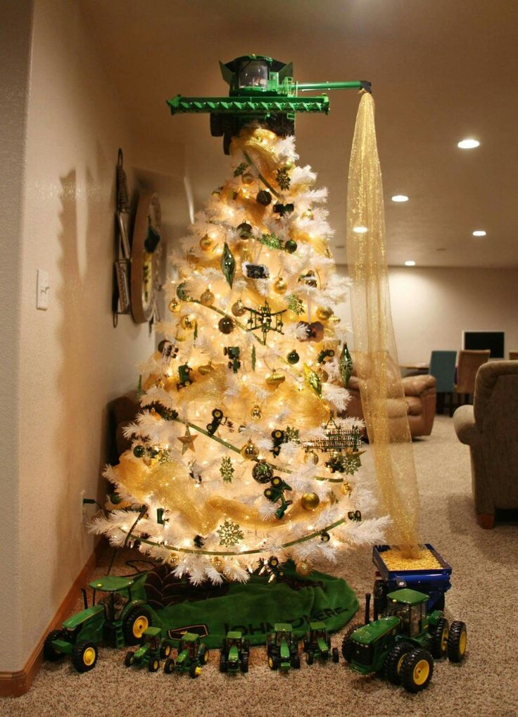 Cool tree. Somebody loves John Deere.