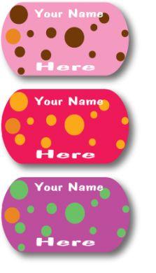 Custom Mini-Metal Tags - Polka Dot Me