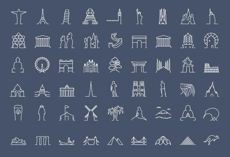 Landmark Icons #icons #design