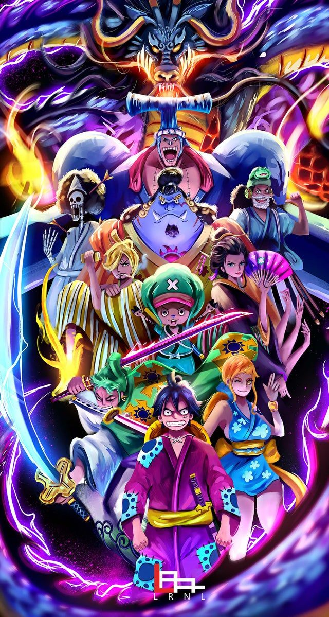 Strawhat Pirates And Kaido Of The Beasts Appreciate If You Could Check My Fb And Ig Page I In 2020 Manga Anime One Piece One Piece Wallpaper Iphone One Piece Drawing