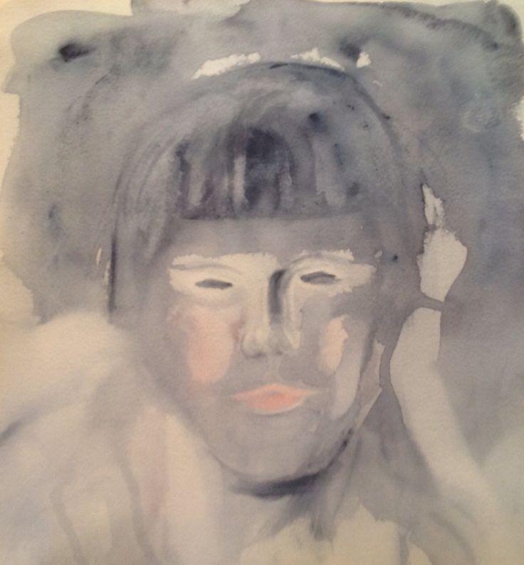 Watercolor signed by Olavi Alanko