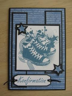Konfirmation card