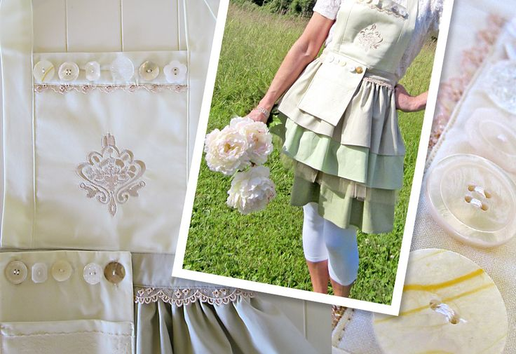 Three-Tier Ombre Apron with Shabby Chic Style