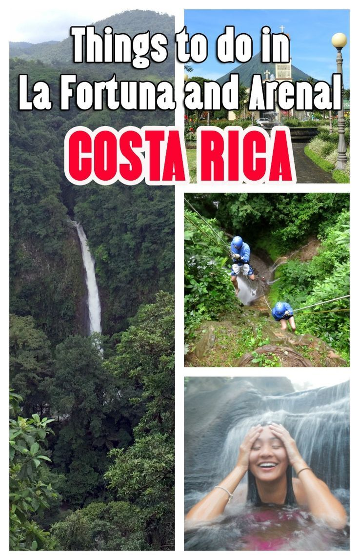 Top things to do in La Fortuna and Arenal, in Costa Rica.