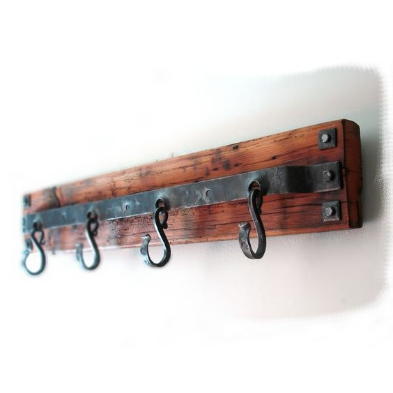 Hand Forged Coat Rack by HAND FORGE:                                                                                                                                                                                 More
