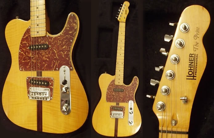 Prince's Hofner Telecaster. His long term guitar. Made in Germany.