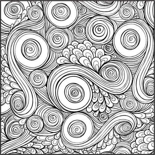 Color With Music: Patterns Shapes and Designs coloring page