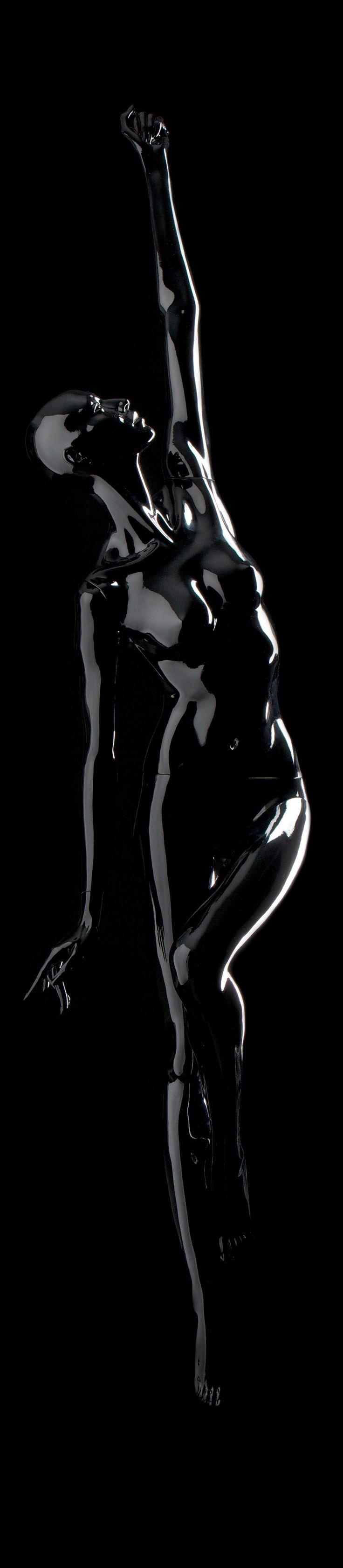 #black #glossy #mannequin