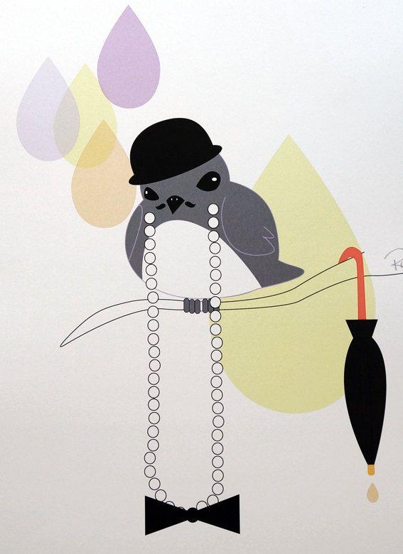 Mr Banks - digital art illustration by Ramalamb