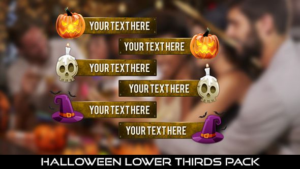 Halloween Lower Thirds Pack  6 Lowerthirds | Full HD 1920×1080 | Quicktime PNG alpha codec | Each 10 seconds.  Available in 3 type : Pumpkin, Skull, Wizard Hat  #videohive #motiongraphic #aftereffects #bat #caption #event #evil #grunge #halloween #lowerthird #metal #pumpkin #skull #text #title #witch #wizard #youtube