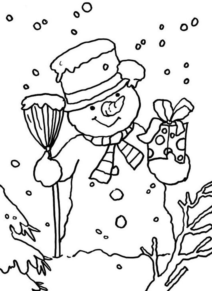 Collection Snowmen Coloring Pages Pictures Images coloring kids