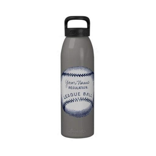 Vintage Baseball, personalized ball Water Bottles