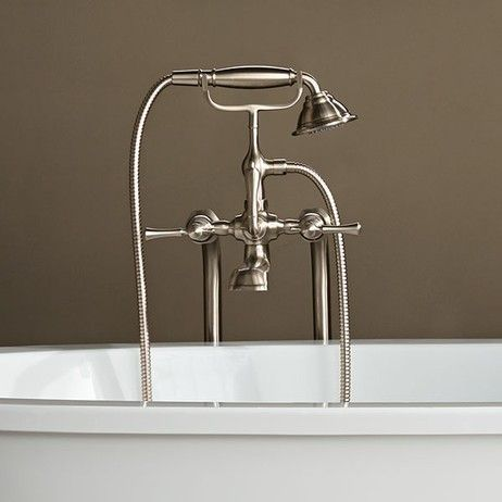 When a #bathtub #faucet stops you in you tracks. DXV Transitional Floor Mount Bathtub  Faucet with Randall Lever