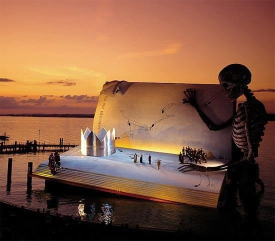 Floating stage on Constanz Lake in Bregenz.