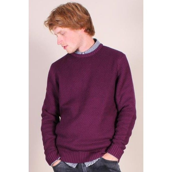 Hymn Harrison Jumper (41 CAD) ❤ liked on Polyvore featuring tops, sweaters, honeycomb knit sweater, knit sweater, purple jumper, jumpers sweaters and multicolor sweater