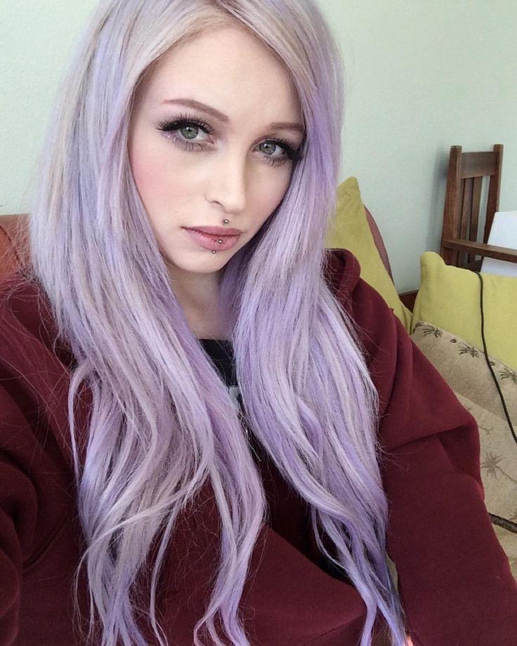 jouzai.tumblr, pastel lilac hair, white and lilac hair