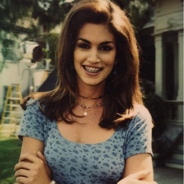 Cindy Crawford's Daughter Shares an Adorably Awkward Old Photo of Her Mom via @WhoWhatWear