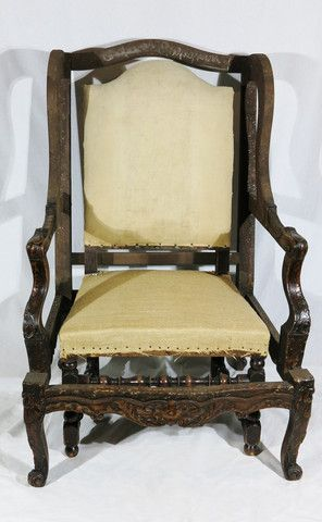 A Chair Within a Chair // Antique Walnut Chair Frames and Louis XIII Side Chairs // Set of two available for both pieces