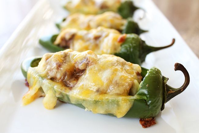 cheesy stuffed jalepenos...