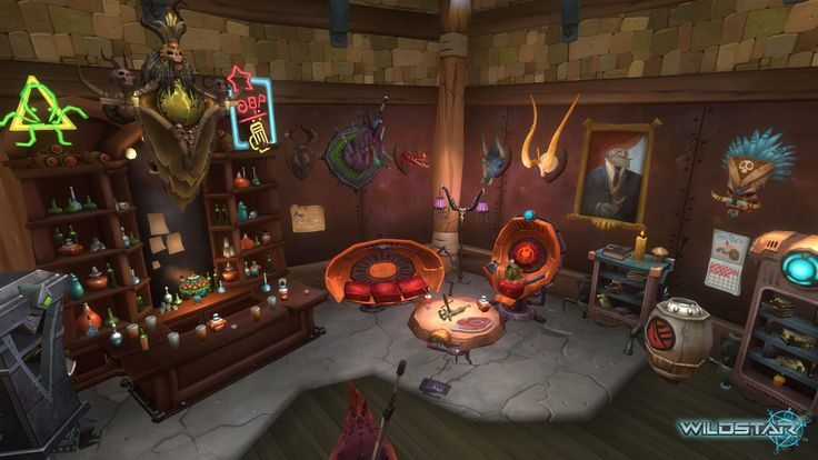 Wildstar, housing, bar, pub.