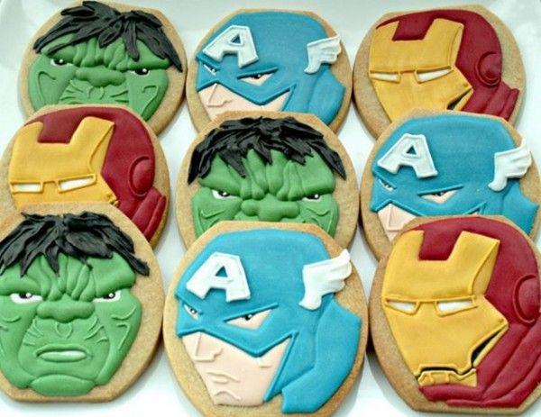 Galletas de Los Vengadores: Cookies Super Hero, Superhero Yummys, Character Cookies, Cakes, Cookies Assemble, Superhero Cookied, Avengers Cookies, Awesome Cookies