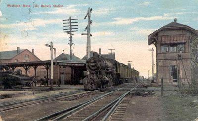 Exploring Western Massachusetts: Westfield, Massachusetts Railway Station Postcards