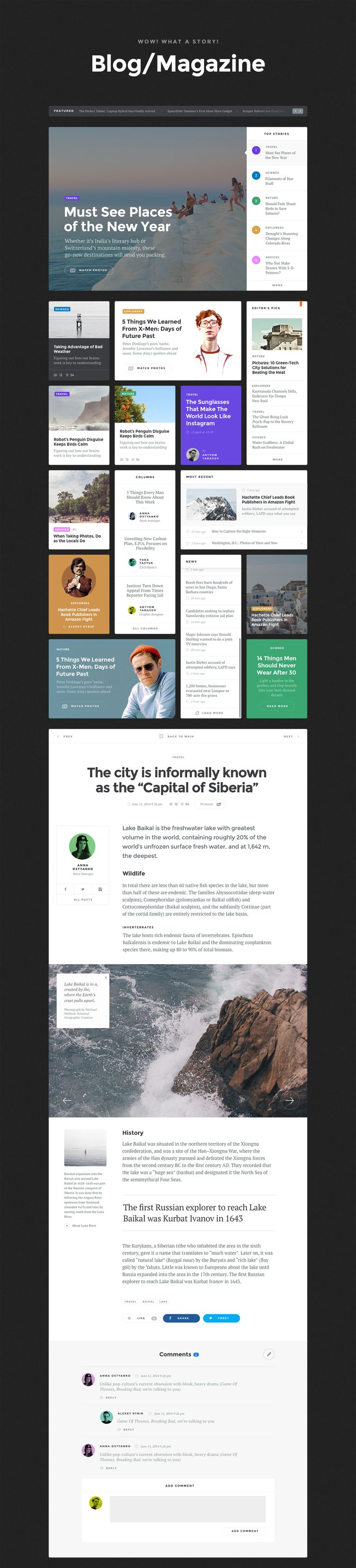 Baikal UI kit – blog/magazine