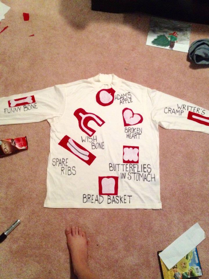 DIY Operation board game costume. #DIY