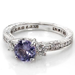 "Repinning this because my mom pinned it and didn't see the description which was: ""i want this shit...purple sapphire engagement ring"" LOL she said ""shit"""