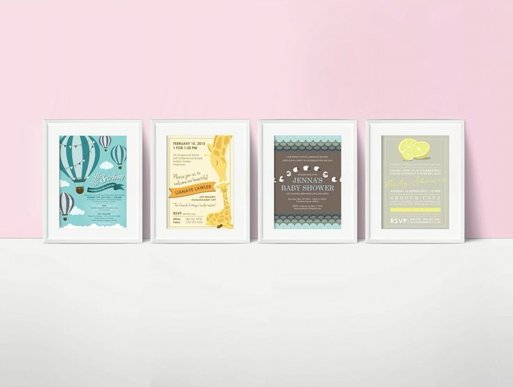 Baby shower invitations. www.missrubydesigns.co.za
