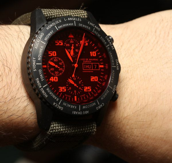 Maurice de Mauriac Chronograph Modern Travel Timer Watch Review