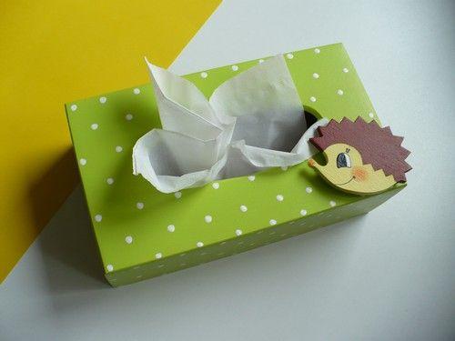 Krabička na kapesníky s ježkem