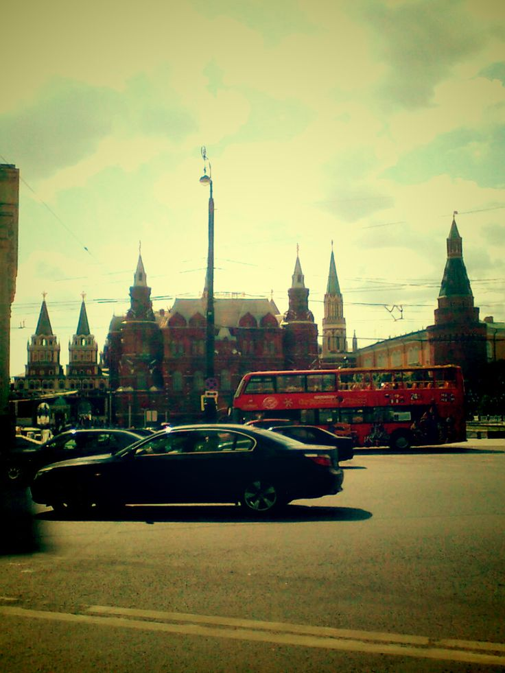 the road is leading to Red Square