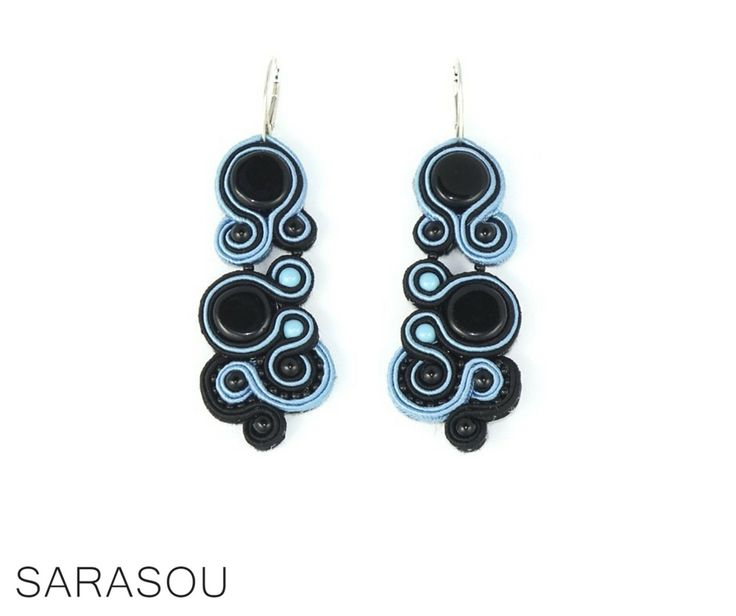 Effortless chic – little black dress and a pair of gorgeous soutache earrings. #Sarasou #Classic #effortlesschic