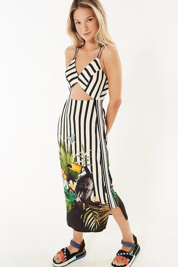 c2702f228 vestido recorte tucano barrado   Детали-2   Fashion, I dress e Dresses