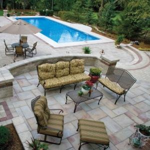 Pool And Patio Designs integrating patio design with your yard Find This Pin And More On Patio Pool Landscaping Ideas