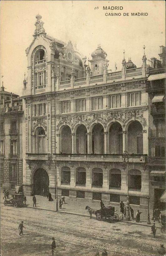 Casino de Madrid, en la Calle de Alcalá, entre 1915 y 1920. Hauser y Menet.