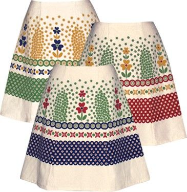 polish pottery skirt green hand screen by madewithlovebyhannah